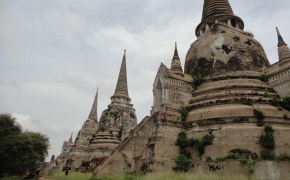 Ruínas em Ayutthaya