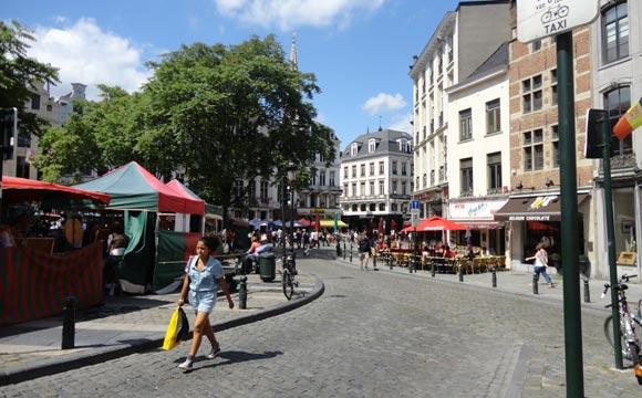 Ruas em Bruxelas