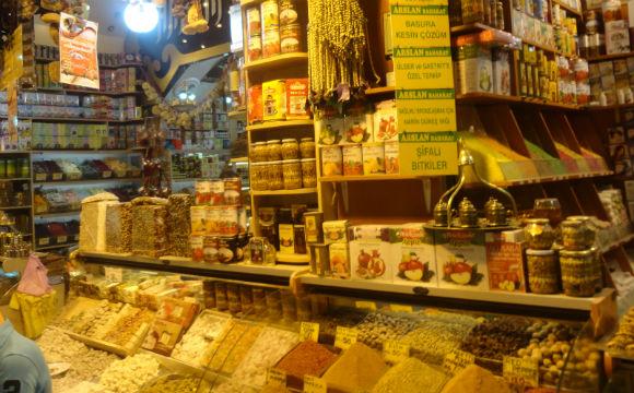 mercado de especiarias na turquia