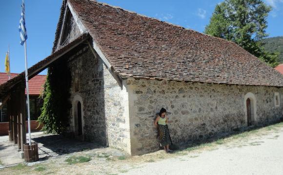 Mosteiro de pedras na região de Troodos