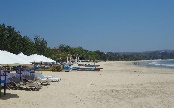 Praia de Jimbaran, praticamente só nossa!