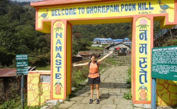 Chegar até Ghorepani foi fácil