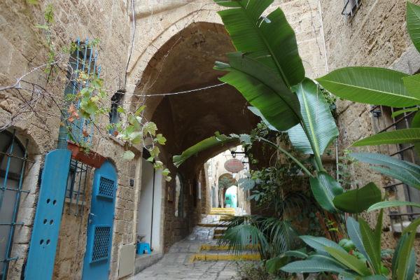 Centro antigo de Jaffa, em Tel Aviv, com várias lojinhas elegantes
