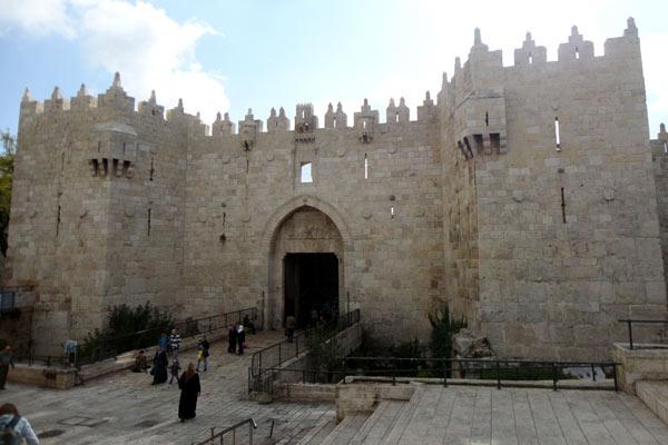 Uma das entradas da Cidade Velha, em Jerusalém